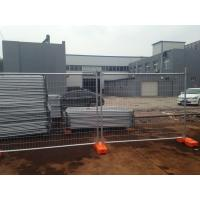 Galvanized Temp Fence set for sale temporary fencing panels ,base as well clamp 2100mm x 2400mm panels made in china