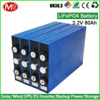 China Rechargeable lithium battery 3.2V 80AH LiFePO4 battery for Electric forklift wholesale