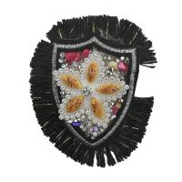 Buy cheap Personalised Rhinestone Applique Patches Golden Rectangle / Customized Shape from wholesalers