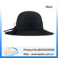 China Cheap lady bowler a bucket hat with a wide floppy brim wholesale