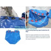 China STRONG SEWING EXPORTING JAPAN DURABLE BLUE PE BAGS, HOUSEHOLD WATERPROOF PORTABLE PE BAGS, TARPAULIN BAGS, SACKS, PACK on sale