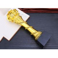 China Elegant And Luxury Designed Resin Trophy , Gold Plated Glorious Souvenir wholesale