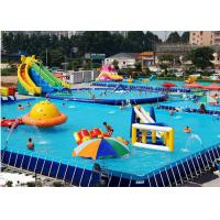 Buy cheap Unitized Amusement Inflatable Water Parks , Blow Up Water Slide With Bracket Pool from wholesalers