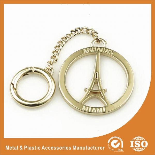 Gold Custom Size Eiffel Tower Hollow Custom Metal Logo Labels For