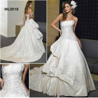 Buy cheap Taffeta Strapless Appliqued Bodice With a-Line and Chapel Train Wedding Dress, from wholesalers