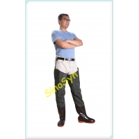 China FQT1901 Army-Green PVC Skidproof Underwater Outdoor Fishing Waders with Rain Boots wholesale