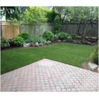 39mm Synthetic Landscaping Fake Grass Carpet U Shape For Homes Yard SGS Approved