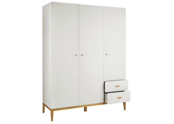 Quality Moisture - Proof Modern Bedroom Furniture Sets , Matt White Lacquer Painting 3 Door Wardrobe E1 MDF for sale