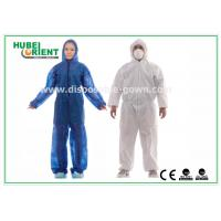China Hooded Disposable Protective Coverall With Elastic Wrist / Ankle / Waist wholesale