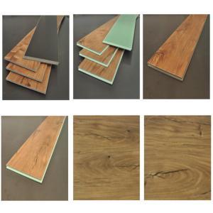 China Brown Waterproof Laminate Flooring Long Lasting Construction WPC Material wholesale