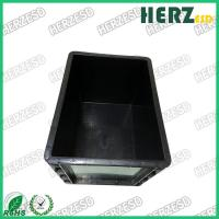 China Black Color ESD Storage Box / Crate Bin Dust Proof Size 400 * 300 * 280mm on sale