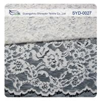 Silver Fashion Swiss Corded Jacquard Lace Fabric Brides Dresses