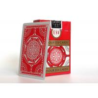 China Casino Playing Cards 310gsm German Black Core Paper Linen Finish wholesale