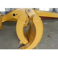 Quality Wearable Steel Mechanical Excavator Grapple Bucket with Rod for sale