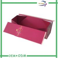 China Single Wine Glass Bottle Gift Box Cardboard Paper Packaging Magnetic Wine Box wholesale