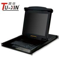 China Professional 17 Inch LCD KVM Drawer 1 Port PS2 Or USB Rackmount KVM Console wholesale
