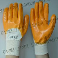 China Made In China - nitrile cotton  glove ,yellow nitrile fully coated,3/4 coated,knit wrist wholesale