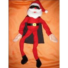 China Soft Velboa Customized Plush Toy Cool Santa Claus with Sunglasses Size 15cm to 50 cm wholesale