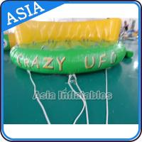 China 5 Person Water Ski Tube Inflatable Boats Crazy UFO Shaped 0.9mm PVC Tarpaulin on sale