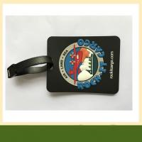 China 3D embossed PVC Luggage Tag Durable Customized pvc silicone rubber coaster with logo wholesale