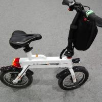 China Green 12 Inch Foldable Electric Scooter , Mini Smart Bike 25 km / h wholesale