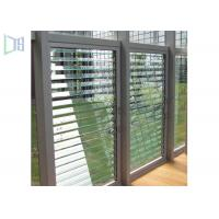 China Ventilation Interior Security Shutters , Aluminium Louver Windows For Commercial wholesale