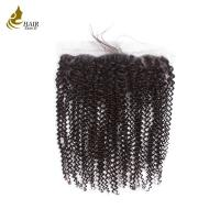 Buy cheap Free Part Lace Closure No Tangling , Virgin Human Hair Extensions Kinky Curly from wholesalers