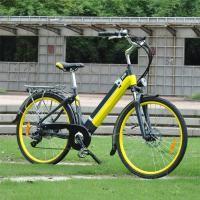 China Yellow / Black Womens Electric Bike Wattage 200 - 250w With 7 Speed Shimano Gear System wholesale