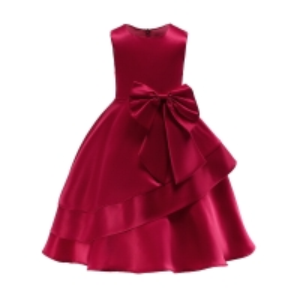 China Wine Red/Pink Floor Length Girl Dress e Girl Girls Unicorn Niños Roupas Infantis Menina Elsa Vampirina Jurken Dress Niña wholesale