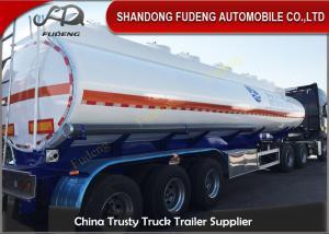 36000 Liters Petrol Tanker Trailers 3 cabins for fuel transportation