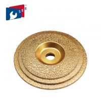 China 125mm Vacuum Brazed Diamond Cup Wheel , Metal Bond Diamond Grinding Wheels wholesale