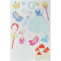 China Lovable 3D Princess Kawaii Puffy Stickers For Mobile Phone Rotary Printing Type wholesale