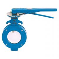 China Black Handle Wafer Industry Cast Steel Butterfly Valve wholesale