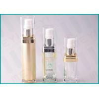 China Square Acrylic Cosmetic Pump Bottle 15 ML 20 ML 30 ML For Lotion And Essence on sale
