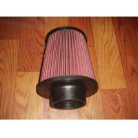 China Racing Auto Air Filters Upper And Lower With Rubber Cover / k And n Air Intake Filter on sale