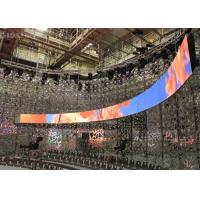 China Rubber Flexible Billboard LED Display Curved Advertising Board Indoor P3 Front Servicing on sale