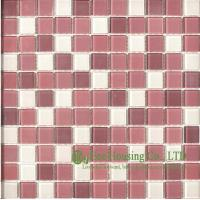China Anti-dust 300mm*300mm Glass Crystal Mosaic Tile for Kitchen/Bathroom wall,Fade resisitance wholesale
