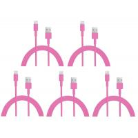 China colorful USB to 8PIN Charging and Data sync cable cord for 5 5s 5c iPod Touch 5 Pink wholesale