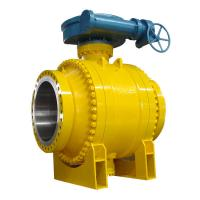 China Cast Steel Side Entry Trunnion Ball Valve Good Flow Adjusting Ability on sale