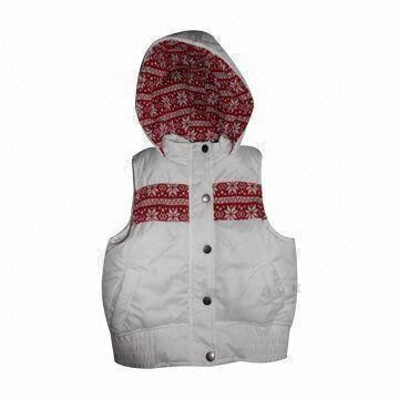 Quality Jacket for Children 8 to 16 Years Old, Made of 100% Polyester with PU Coated Pongee, Water-resistant for sale