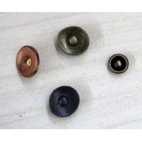 China Metal Rivet Custom Clothing Buttons Flat / Brass 3D For Garments on sale