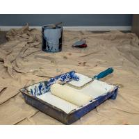 Buy cheap Natural White Painters Drop Cloth Moisture Proof 5 X 5ft With LDPE Film Coated from wholesalers