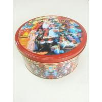 China Christmas Cookie Tin Storage Containers , Food Storage Cylindroid Small Tin Boxes on sale