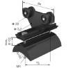 China Plastic Cable Festoon System Neoprene Bumper For Small Cranes wholesale