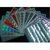 Permanent Glossy Waterproof Holographic Security Stickers With Multicolor