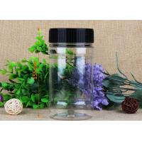 China Recyclable Transparent Clear Plastic Cylinder Food Grade Package With Screw Lid on sale