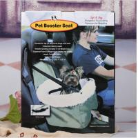 China Foldable Car Booster Seat Pet Dog Basket Cage Carrier Bag for Buckle Hanging Car Bucket Seat Safety Leash Carrying Strap on sale