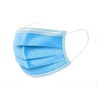 China Wave Blue 50pcs / Box PPE Personal Protective Equipment on sale
