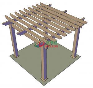 DIY wood plastic composite pergola Construction for garden / 4mx4mx3m / OLDA-5001B