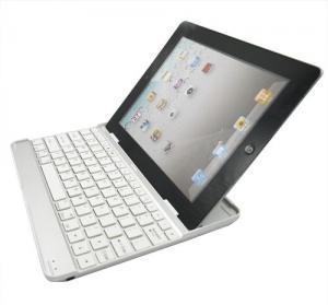 China Ultra Slim Aluminum Cover Bluetooth Wireless KeyBoard Dock on sale